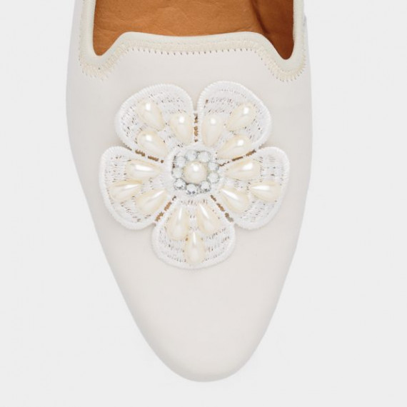 Off white Flosa bridal loafers