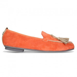 Orange moccasins shoes for men
