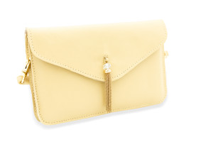 Yellow Leather Travel Purse