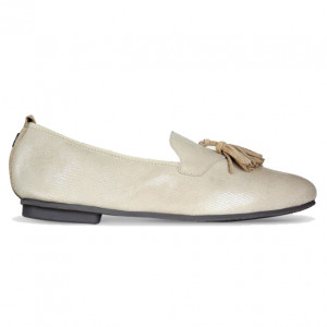 Biege rieto loafers for mens