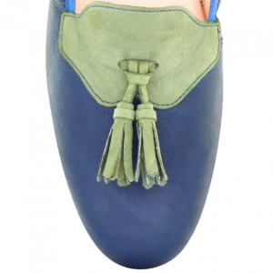 Men blue loafer shoes
