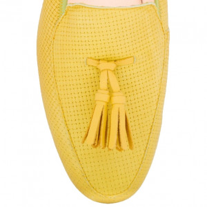 Yellow rocco moccasins for men