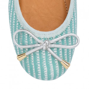 Green tea ballerinas shoes for girls
