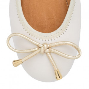 classic white ballerinas shoes for girls