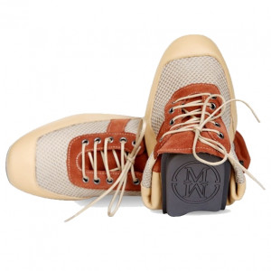 Brown casual sports shoes for women