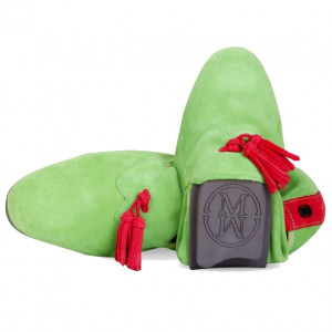 Green cearo loafer shoes for men