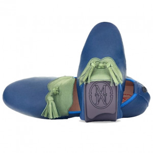 Royal blue marco loafer shoes for men